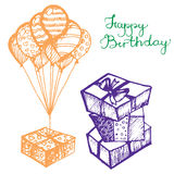 Vector birthday attributes Royalty Free Stock Photo