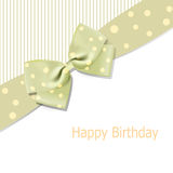 Vector birthday background with bow Royalty Free Stock Photos