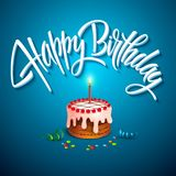 Vector birthday cake with candles Stock Images