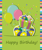 Vector birthday cake. Greeting Card Royalty Free Stock Photography