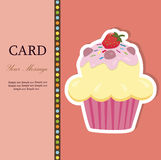 Vector birthday cake. Greeting Card. Vector illustration Royalty Free Stock Photo