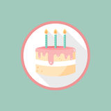 Vector Birthday cake icon Royalty Free Stock Photos