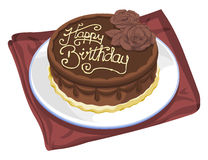 Vector of birthday cake. Royalty Free Stock Photos