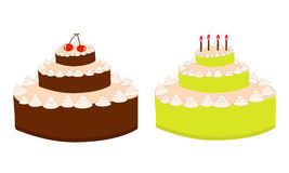 Vector birthday cake Royalty Free Stock Photo