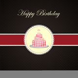 Vector Birthday cake in invitation card. Easy to edit illustration of Birthday cake vector illustration