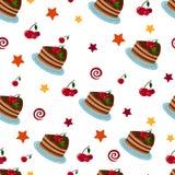 Vector Birthday Cake stock illustration