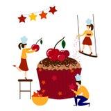 Vector Birthday Cake vector illustration