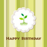 Vector birthday card Royalty Free Stock Image