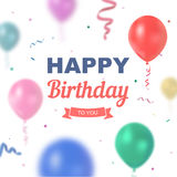 Vector birthday Royalty Free Stock Image