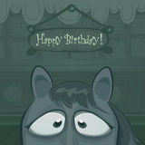 Vector Birthday card illustration Royalty Free Stock Photo