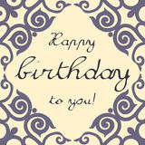 Vector birthday card neutral Royalty Free Stock Image