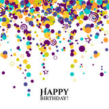 Vector birthday card with polka dots and wishes Stock Photography