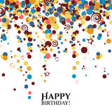 Vector birthday card with polka dots and wishes Royalty Free Stock Photos