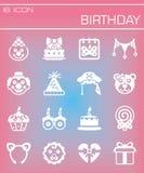 Vector Birthday icon set Royalty Free Stock Photography
