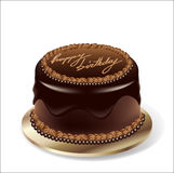 Vector Birthday Party Chocolate Cake Royalty Free Stock Photography