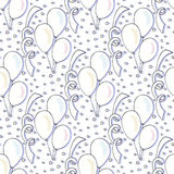 Vector birthday pattern with balloons. Seamless background for holiday Royalty Free Stock Image