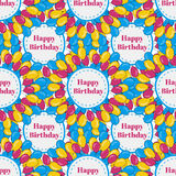 Vector birthday seamless pattern background with colorful balloons.  Royalty Free Stock Photo