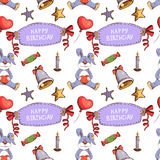 Vector birthday seamless pattern vector. Eps10 Royalty Free Stock Images