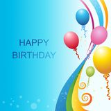 Vector Birthday Template Royalty Free Stock Images