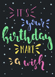 Vector birthday wish Royalty Free Stock Images