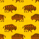 Vector bison Royalty Free Stock Image