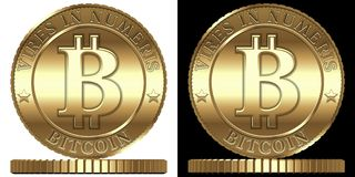 Vector Bitcoin royalty free illustration
