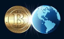 Vector Bitcoin Concept Stock Image