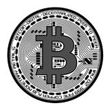 Vector bitcoin illustration stock images