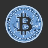 Vector Bitcoin illustration with glowing stock images