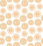 Vector bitcoin logo seamless pattern Royalty Free Stock Image