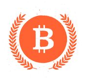 Vector bitcoin simple flat emblem isolated on white background. Digital currency symbol. Cryptocurrency sign. Stock market logo design Royalty Free Stock Photo