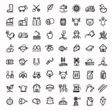Vector black agriculture and farming icons set. This is file of EPS10 format Stock Photo