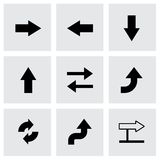Vector black arrows icons set Stock Images