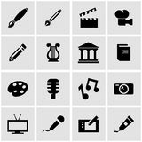 Vector black art icon set Royalty Free Stock Photography