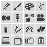 Vector black art icons Stock Images