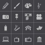 Vector black art icons set. This is file of EPS10 format Stock Photography
