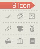 Vector black art icons set Stock Photos
