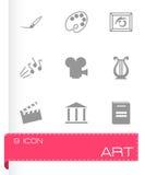 Vector black art icons set. On white background Royalty Free Stock Image