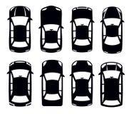 Auto icon. Vector black auto icon set on white Stock Photography