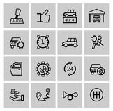 Vector black auto icons set Stock Image