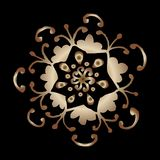 Vector black background with gold oriental ornament vector illustration