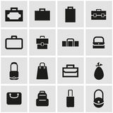 Vector black bag icon set Royalty Free Stock Image