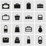 Vector black bag icon set Royalty Free Stock Image