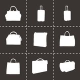 Vector black bag icons set Royalty Free Stock Photo