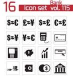 Vector black  bank   icons Stock Photo