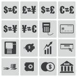Vector black  bank   icons Stock Image