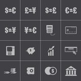 Vector black  bank   icons set Stock Images