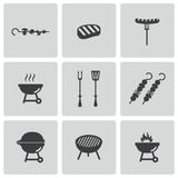 Vector black barbecue icons set Stock Photo