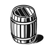 Vector black barrel Royalty Free Stock Photos