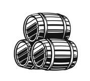 Vector black barrels Stock Images